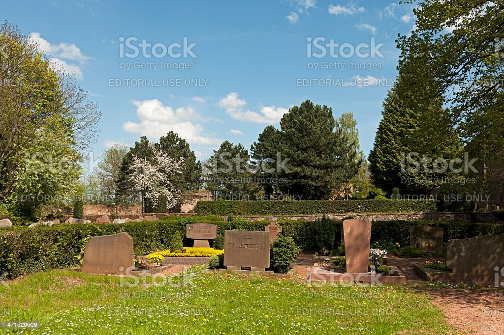 Cemetery of Nideggen stock photo