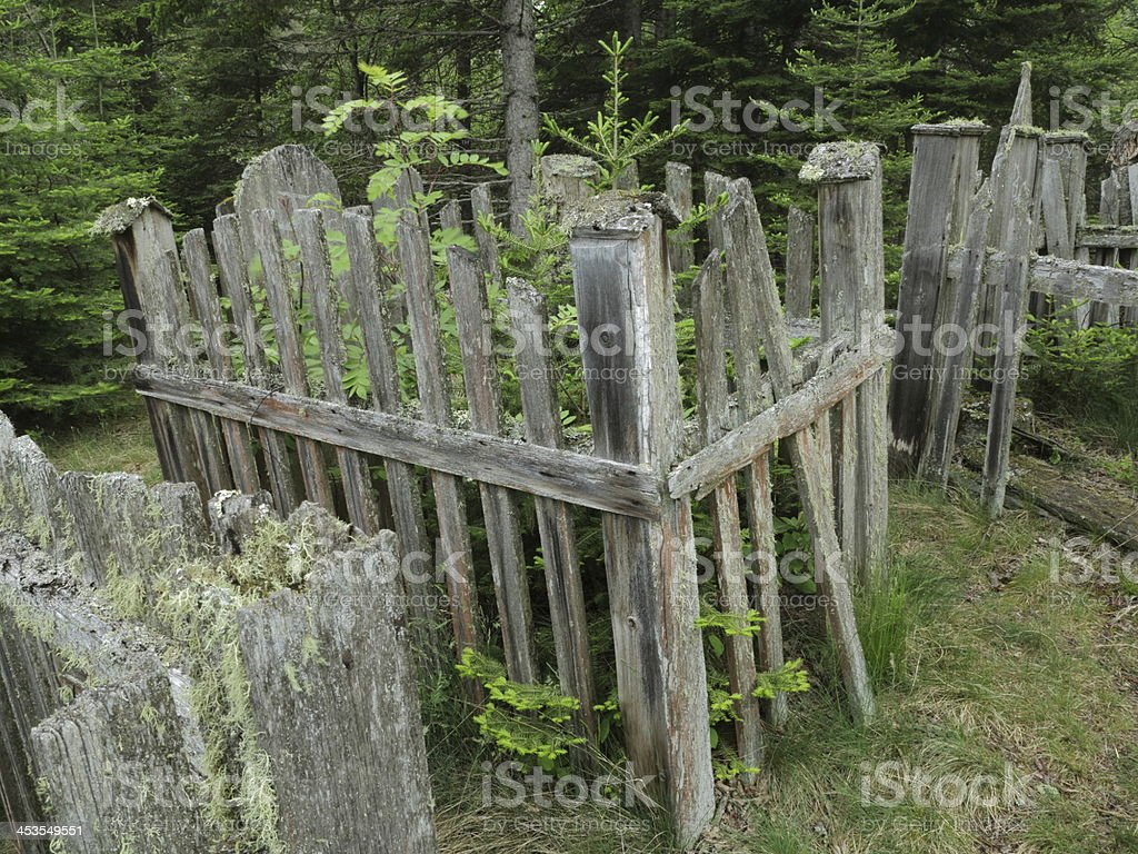 Cemetery of Picket Fences royalty-free stock photo