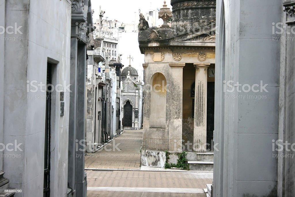 Cemetery  of Recoleta stock photo