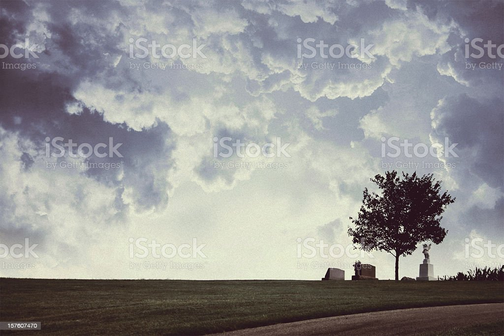 Cemetery on an American Farm royalty-free stock photo