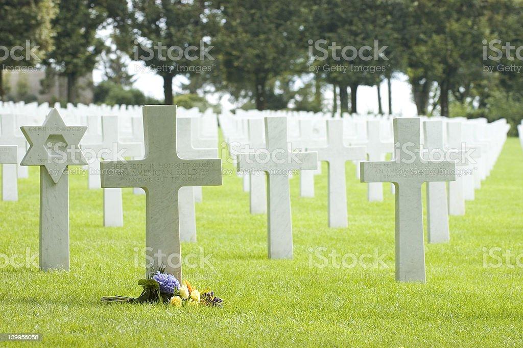 U.S. WW1 cemetery stock photo