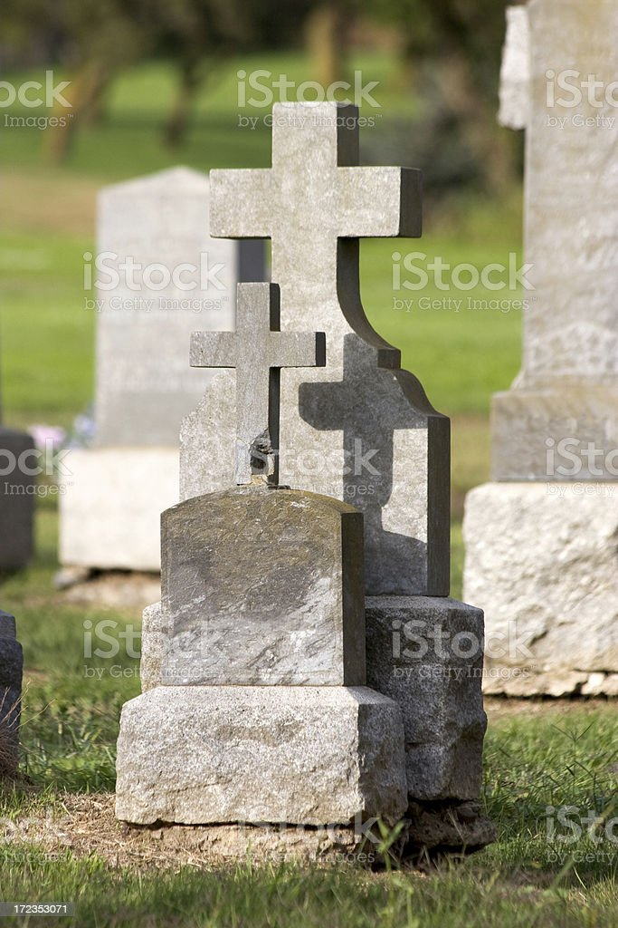 Cementerio foto de stock libre de derechos