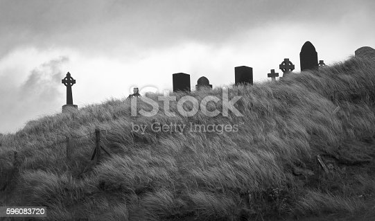 Small cemetery on Aran Islands in Ireland.