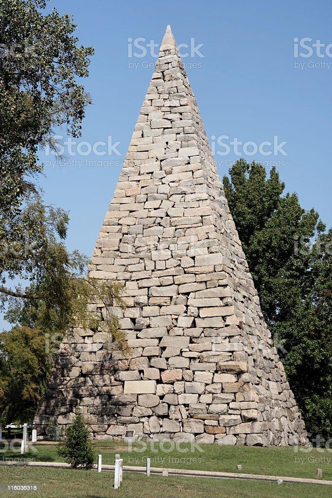 Cemetery Pyramid stock photo