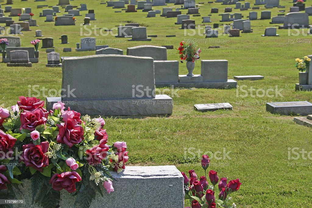 Cemetery Scene stock photo