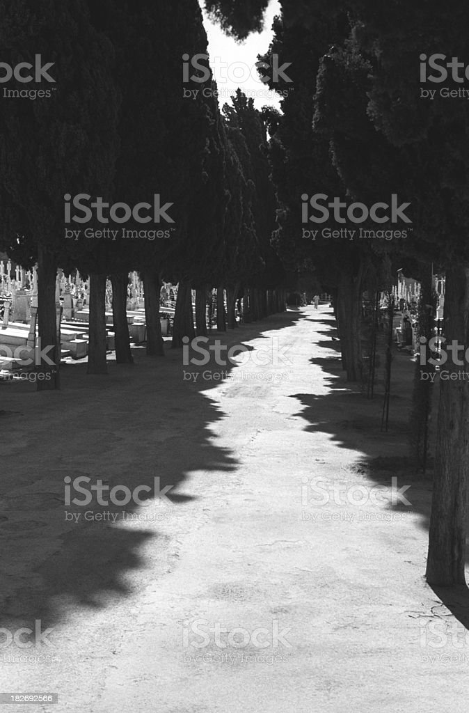 Cemetery, Seville stock photo