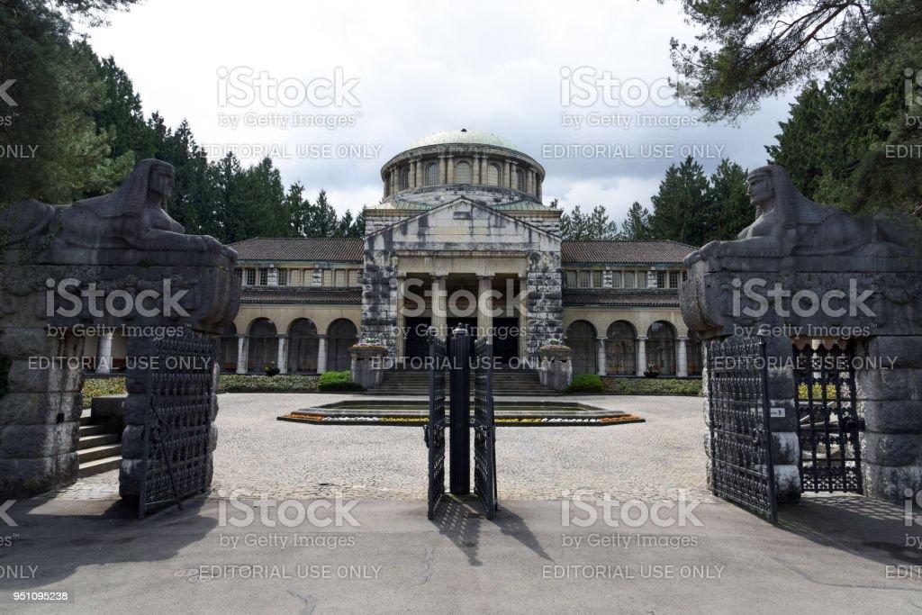 Cemetery Sihlfeld Zurich stock photo