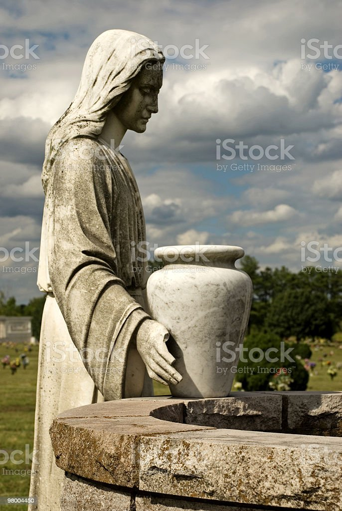 Cemetery Statue of Woman at the Well royalty-free stock photo