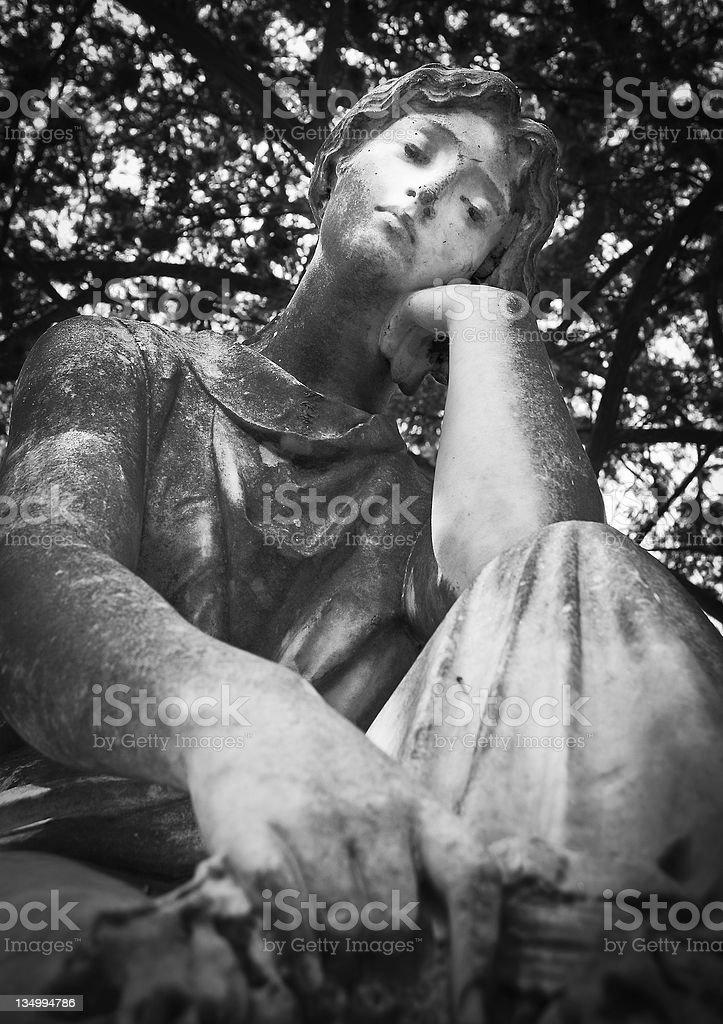 Cemetery Statue stock photo