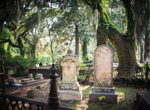 Cemetery Tombstones Stock Photo - Download Image Now