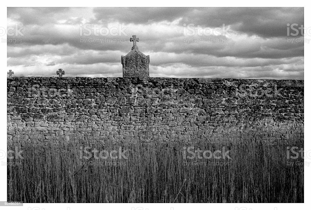 Cemetery Wall royalty-free stock photo