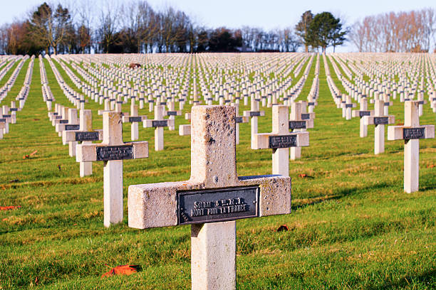 Cemetery world war one in France Vimy La Targette stock photo