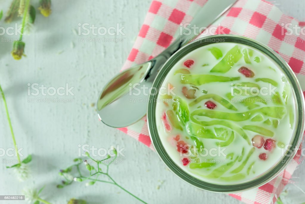 Cendol or Iced dessert of Thailand royalty-free stock photo