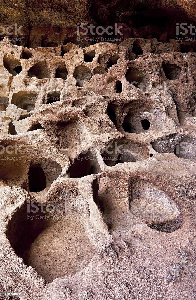 Cenobio de Valeron Caves on Grand Canary Island royalty-free stock photo