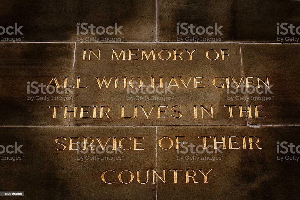 Cenotaph stock photo