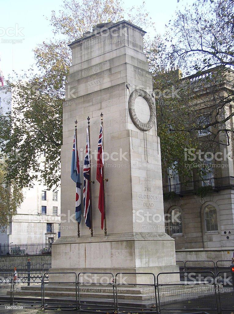 Cenotaph war memorial in London royalty-free stock photo