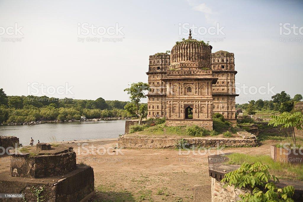 Cenotaphs in Orchha, India royalty-free stock photo