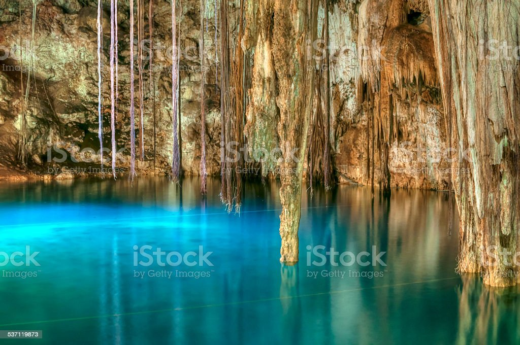 Cenote Xkenken stock photo