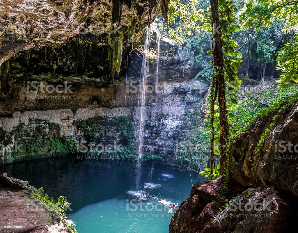 Cenote Zaci - Valladolid, Mexico stock photo