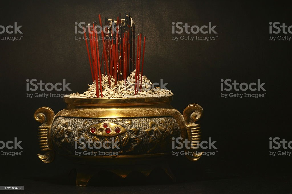 Censer with some incense royalty-free stock photo