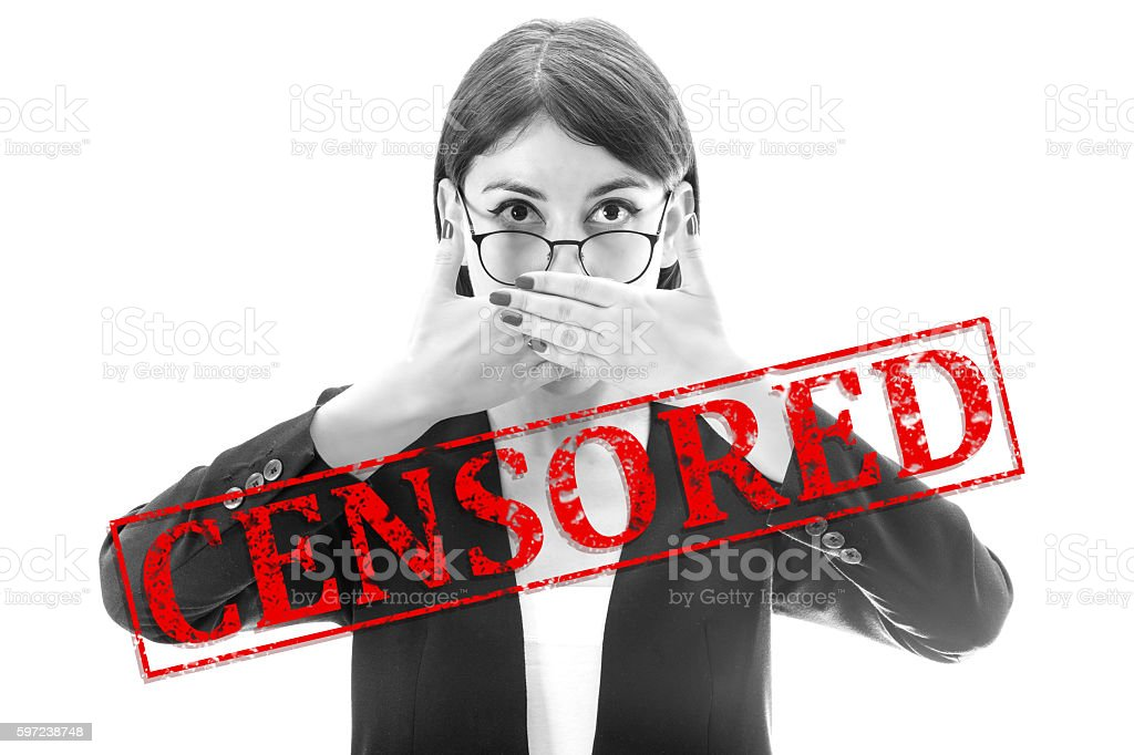 Censored stock photo