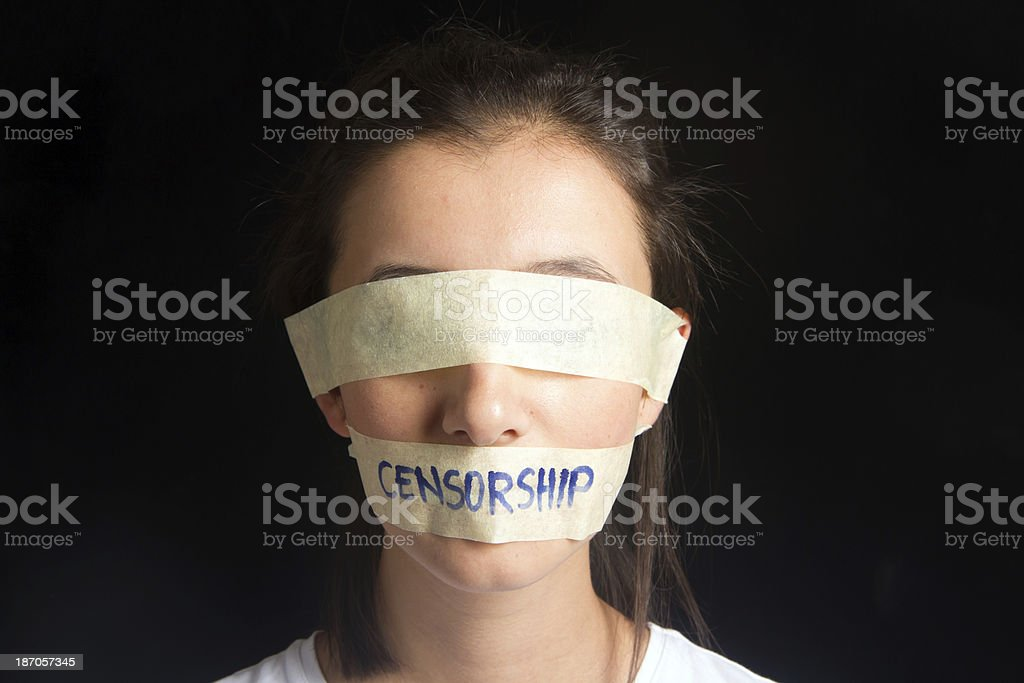 Censorship Concept royalty-free stock photo