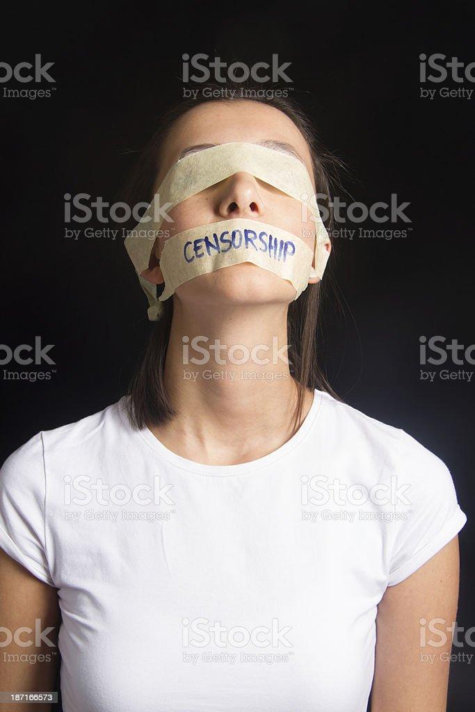 Censorship Concept royalty-free stock photo