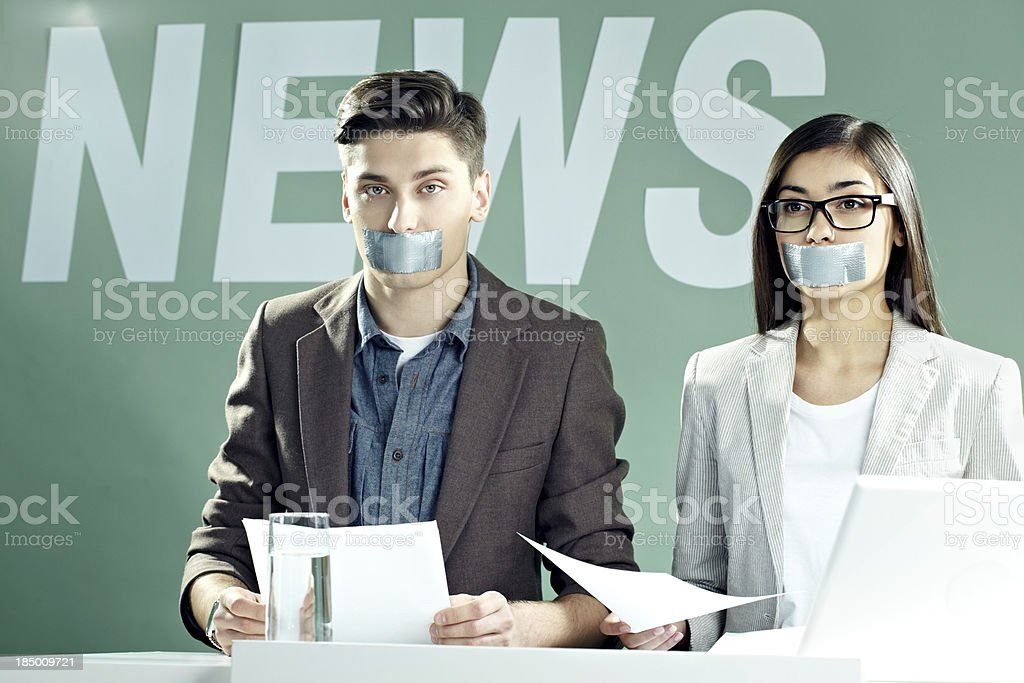 Censorship on TV royalty-free stock photo