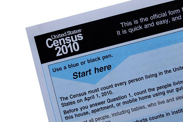 Census form 2010 close-up stock photo