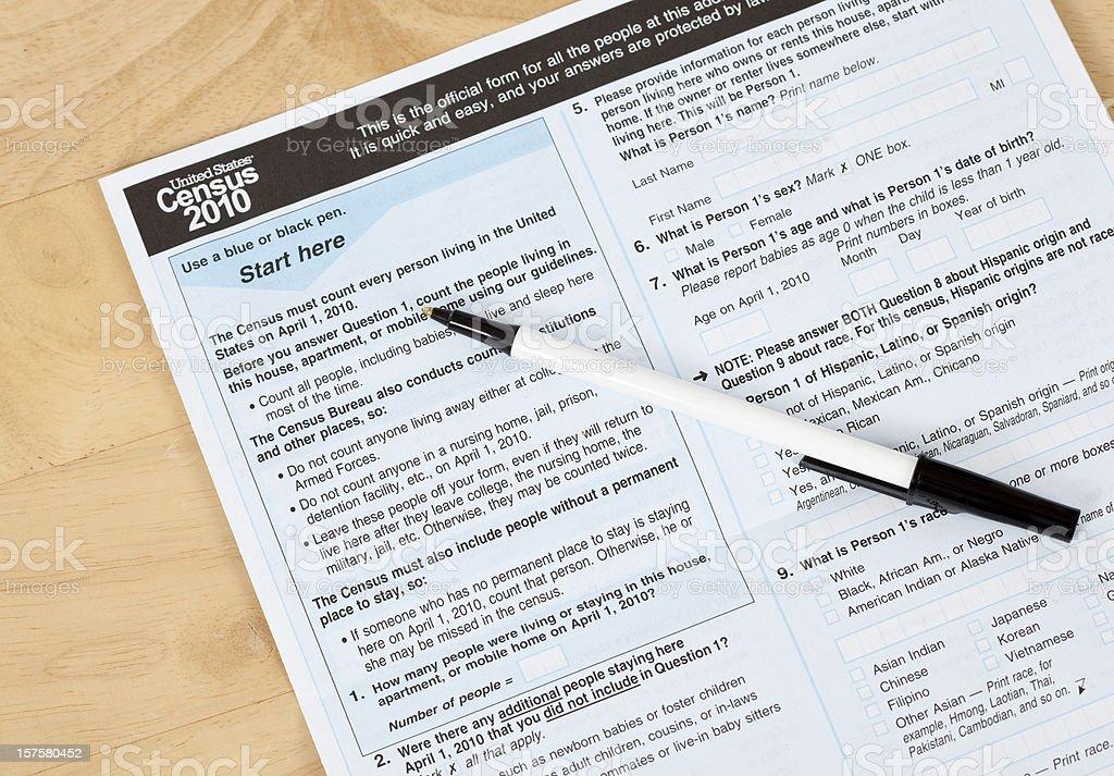 Volkszählung Formular uns – Foto