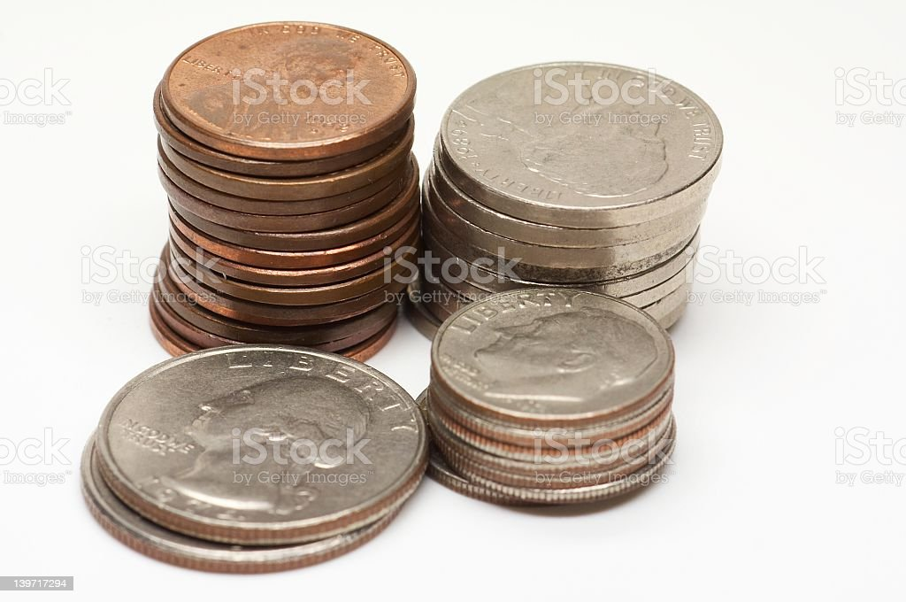 US Cent - 2 royalty-free stock photo