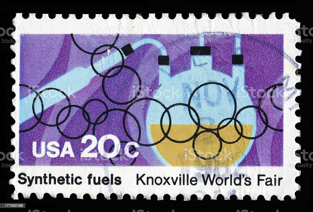 USA 20 Cent Postal Stamp About Synthetic Fuels
