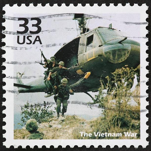 USA 33 cent postal stamp image of Vietnam War stock photo