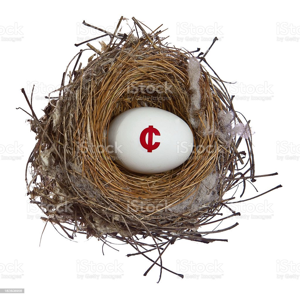 cent sign nest egg royalty-free stock photo