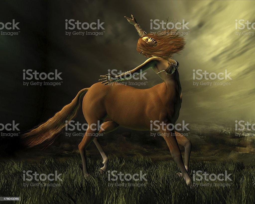 Centaur in the Storm stock photo