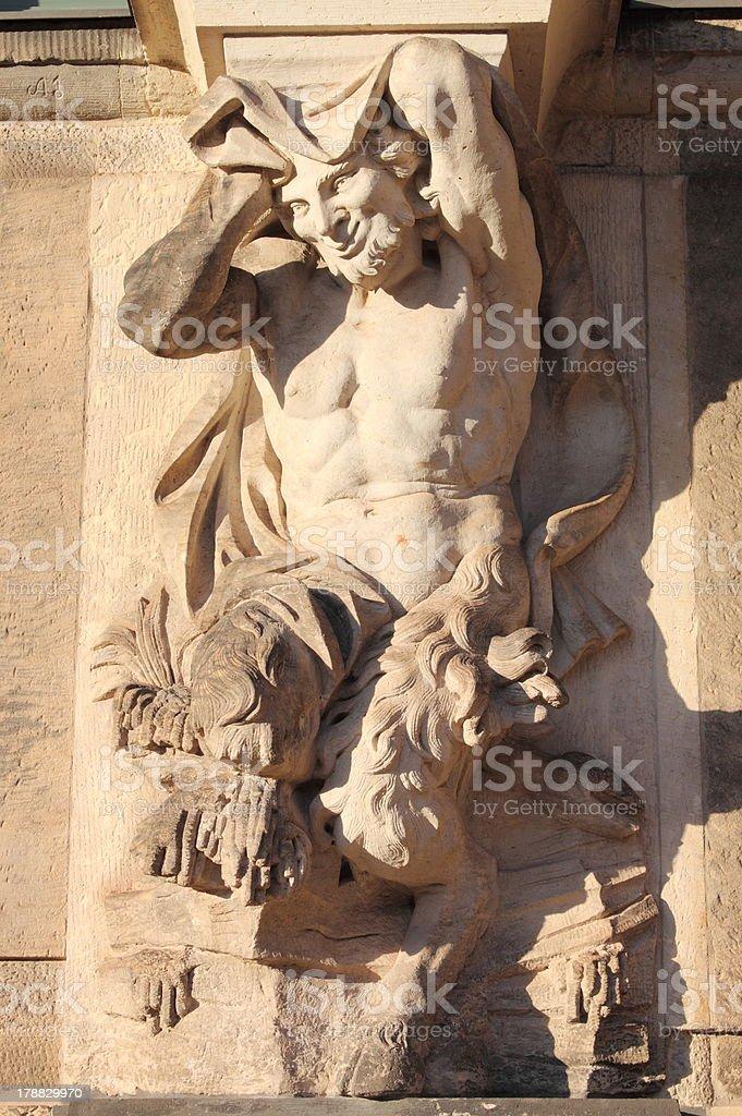 Centaur statue stock photo
