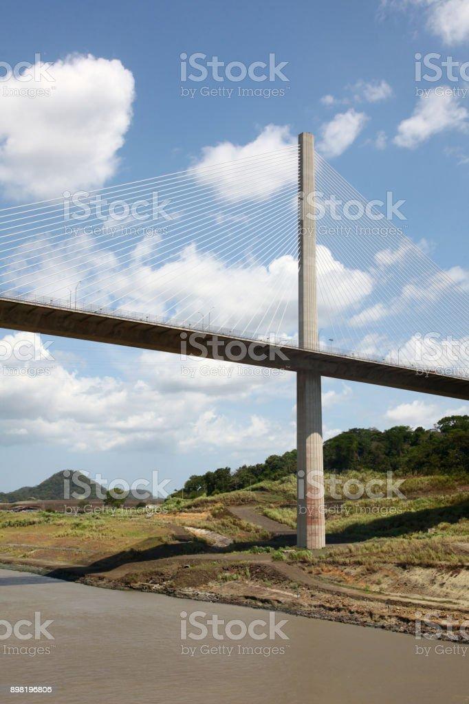 Centennial Bridge (or Puente Centenario) over the canal, Panama, Central America. stock photo