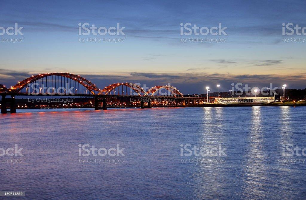 Centennial Bridge stock photo