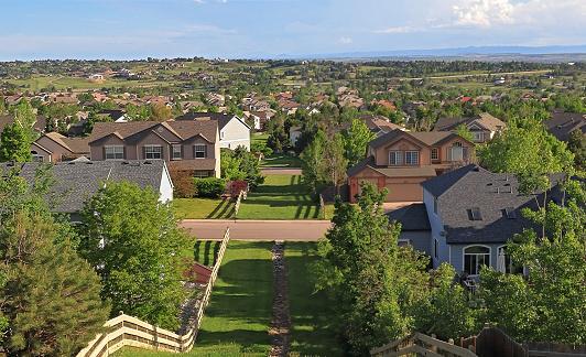 Colorado Living. Centennial, Colorado - Denver Metro Area Residential Panorama
