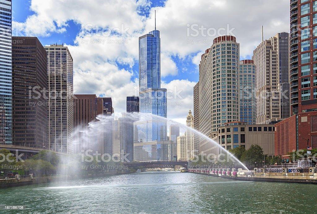 Centennial Fountain Water Spray stock photo