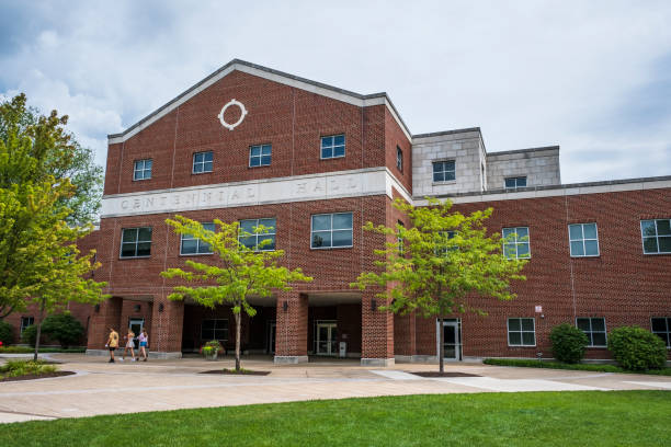 Centennial Hall at Bloomsburg University stock photo
