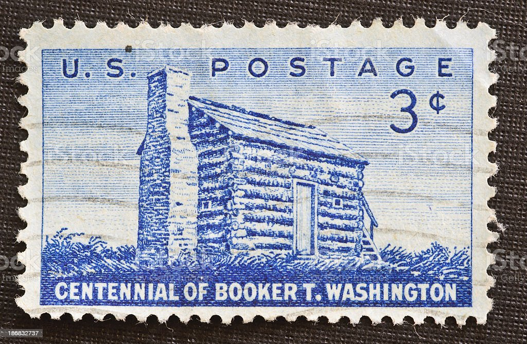 Centennial of Booker T. Washington 3 cent stamp stock photo