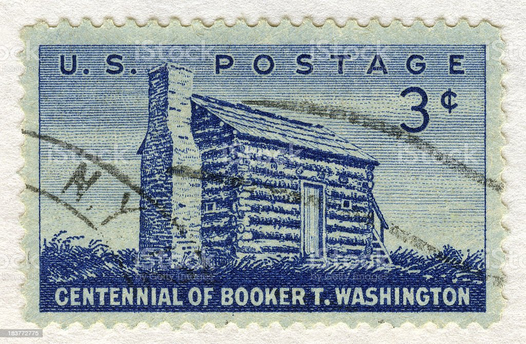 Centennial of Booker T. Washington Postage Stamp stock photo