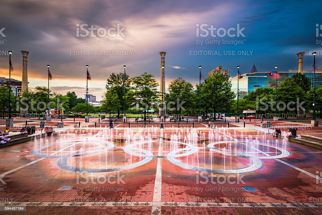 Centennial Olympic Park stock photo