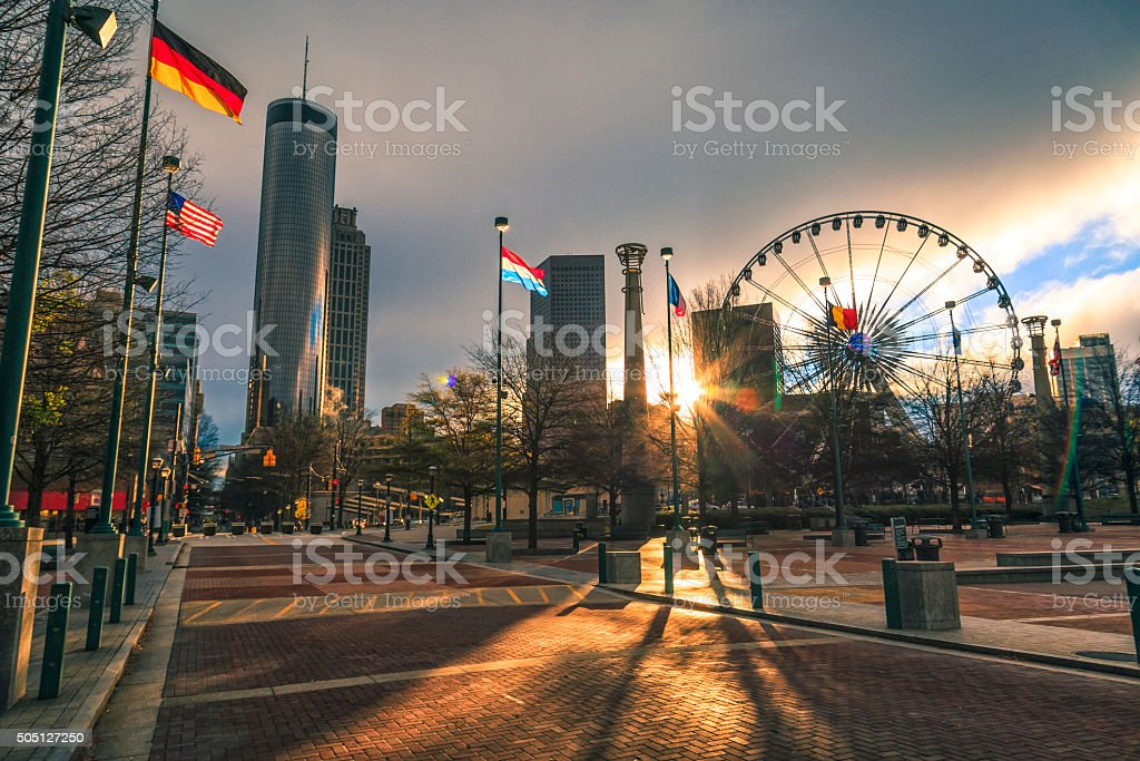 Centennial Park stock photo