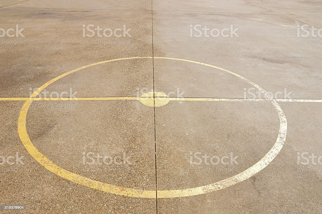 center court stock photo