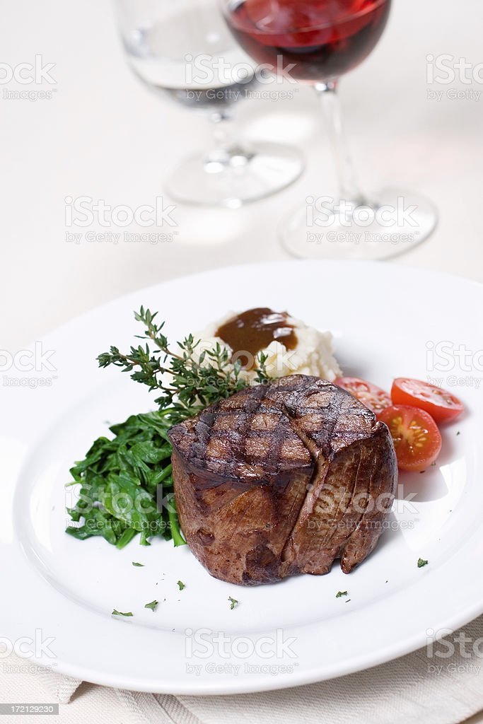 Center Cut Filet Dinner stock photo