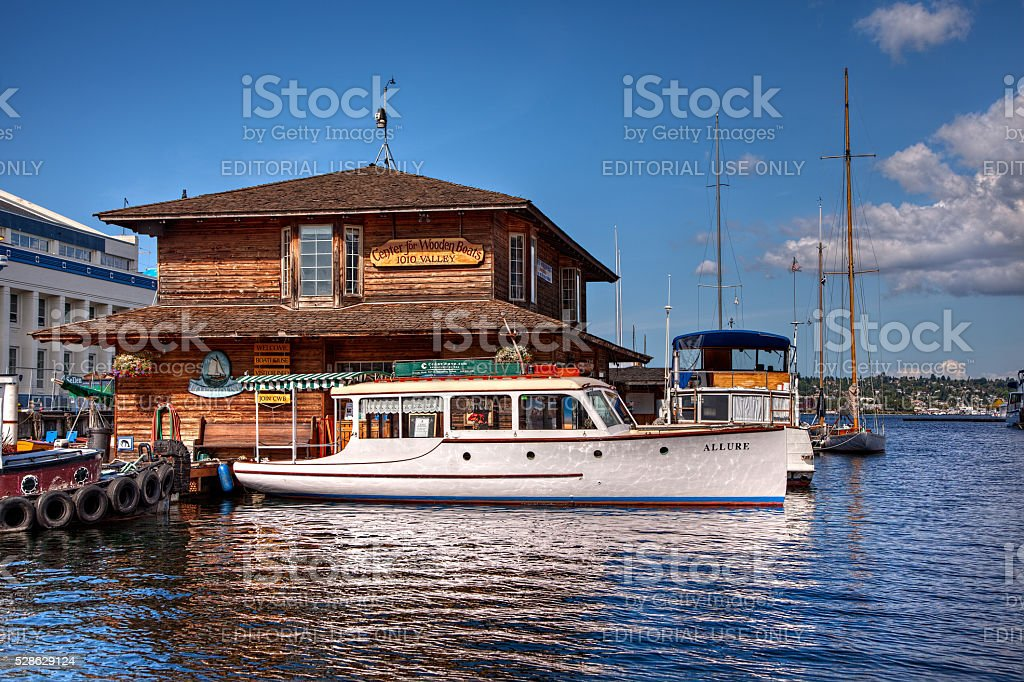 Center for Wooden Boats stock photo