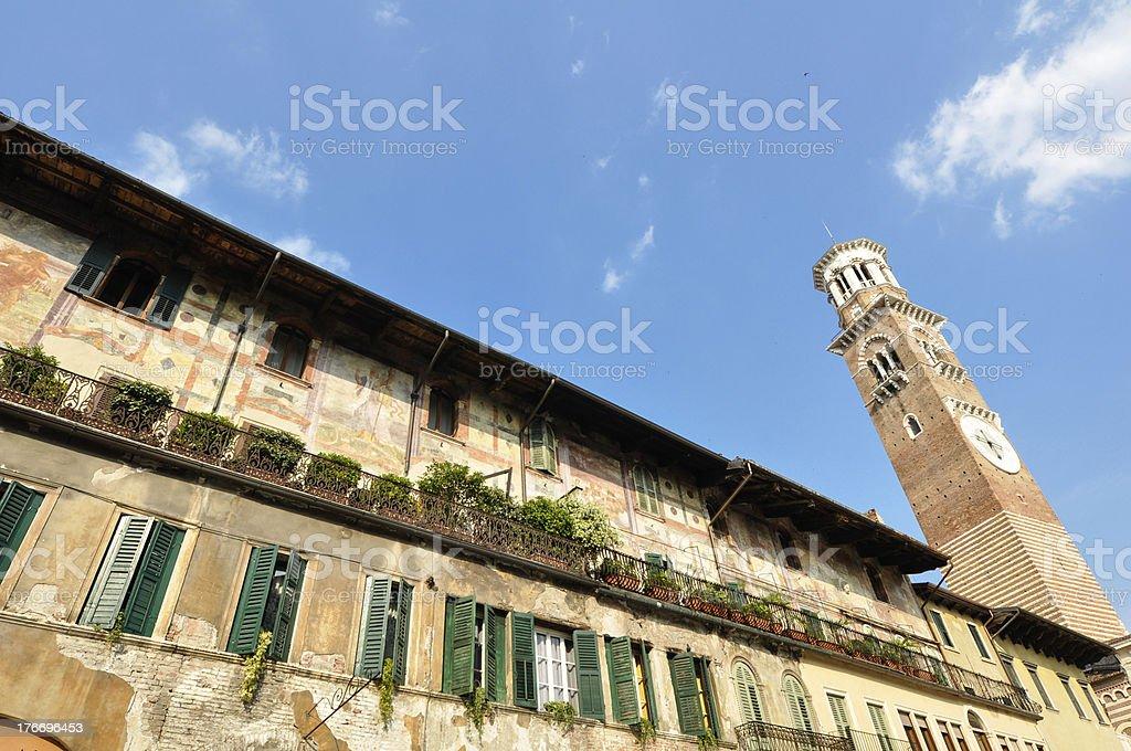 Center market of Verona Italy royalty-free stock photo