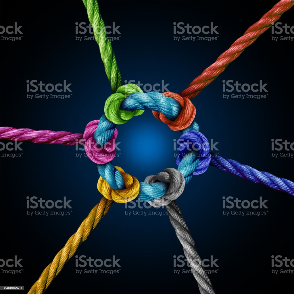 Center Network Connection stock photo